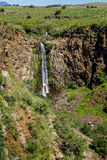 Водопад Gamla в Израиле Стоковые Изображения