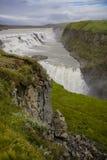 Водопад Gullfoss, Исландия Стоковое Фото