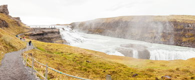 Водопад Gullfoss на реке Hvita - Исландии стоковое фото
