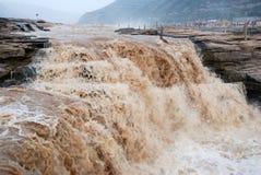 Водопад Hukou Рекы Хуанхэ Китая Стоковая Фотография