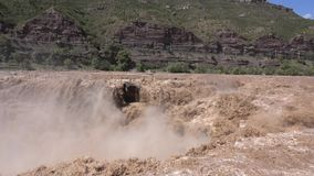Водопад Hukou акции видеоматериалы
