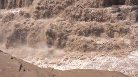 Водопад Hukou видеоматериал