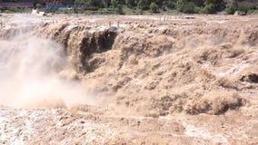 Водопад Hukou сток-видео