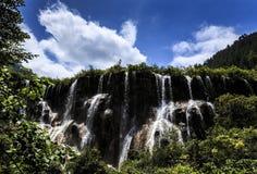 Водопад Jiuzhaigou Стоковое Изображение RF