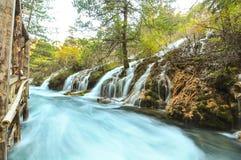 Водопад Jiuzhaigou стоковое фото rf