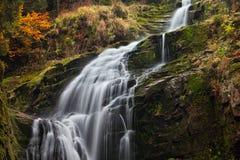 Водопад Kamienczyk в Польше Стоковое Фото