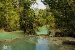Водопад Kuang Si Стоковое Изображение RF