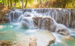 Водопад Kuang Si, Luang Prabang, Лаос Стоковая Фотография