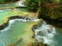 Водопад Kuang Si, prabang Luang, Лаос Стоковые Изображения RF