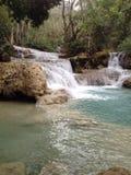 Водопад Kuangsi на Лаосе Стоковые Изображения