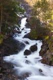 Водопад Langfoss, Норвегия Стоковое фото RF