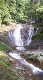 Водопад Latar на пути к гористой местности Камерона Стоковое Изображение RF