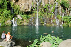 Водопад Les Cormorans на Острове Реюньон, Франции Стоковое Фото
