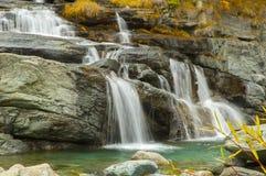 Водопад Lillaz в осени Стоковые Изображения RF
