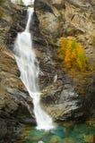 Водопад Lillaz в осени Стоковое Изображение RF