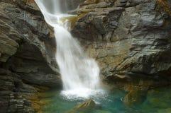 Водопад Lillaz в осени Стоковое фото RF