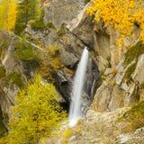 Водопад Lillaz в осени Стоковые Фото