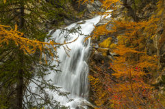 Водопад Lillaz в осени Стоковые Фотографии RF