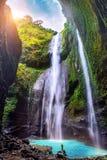 Водопад Madakaripura самый высокорослый водопад Стоковая Фотография