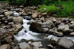 Водопад Madakaripura, Сурабая, Индонезия Стоковые Фото