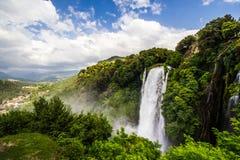 Водопад Mamore Италии Terni Умбрии стоковые фотографии rf