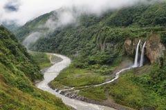 Водопад Manto de Ла novia (bridal вуали) Стоковое Изображение RF