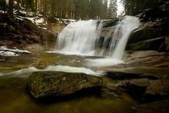 Водопад Mumlava стоковое изображение rf