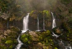 Водопад Murcarols. Cadi, Испания. Стоковое фото RF