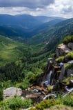 Водопад Pancavsky в гигантских горах Стоковое Изображение