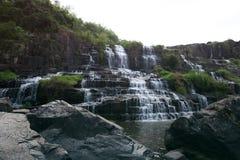 Водопад Pongour, город Dalat, южный Вьетнама Стоковое фото RF