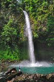 водопад rica la fortuna Косты Стоковое фото RF