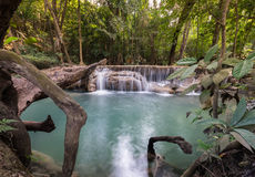 Водопад ` s Erawan стоковое изображение