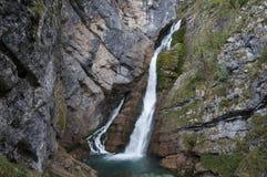 Водопад Savica, Словения Стоковое Изображение RF