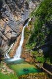 Водопад Savica Стоковые Фото