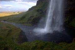 Водопад Seljalandfoss на Исландии стоковые фото