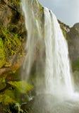 Водопад Seljalands в южной Исландии Стоковые Фото