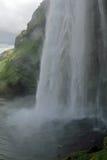 водопад seljalandsfoss Исландии Стоковое Изображение