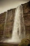 Водопад Seljalandsfoss, Исландия Стоковые Изображения RF