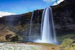 Водопад Seljalandsfoss Стоковое Фото