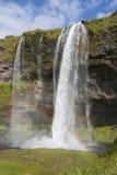 Водопад Seljalandsfoss Стоковое Изображение