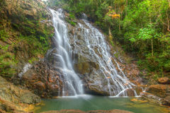 Водопад Seri Mahkota Endau Rompin Pahang Стоковые Фотографии RF