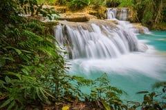 водопад si prabang luang Лаоса kuang Стоковые Изображения RF