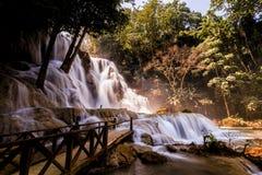 водопад si prabang luang Лаоса kuang Стоковое Фото