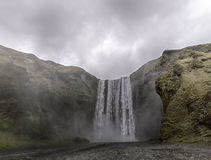 водопад skogafoss Исландии стоковое фото