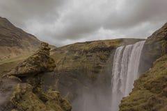 водопад skogafoss Исландии стоковые изображения rf