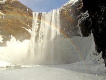 водопад skogafoss Исландии skogar южный Стоковые Фотографии RF