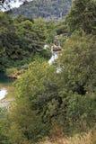 Водопад Skradin Buk, Хорватия Стоковая Фотография RF