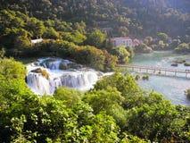 Водопад Skradinski Buk Стоковое Изображение RF