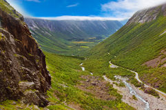 Водопад Stigfossen и путь тролля - Норвегия Стоковое фото RF