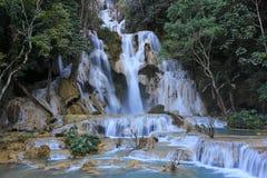 Водопад Tat Kuang Si в luang Prabang, Лаосе Стоковая Фотография RF